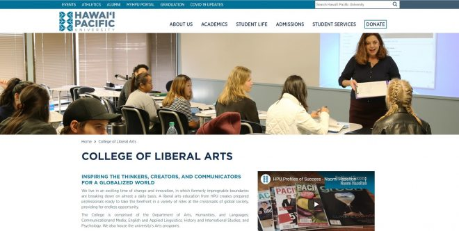 College of Liberal Arts - Hawaii Pacific University